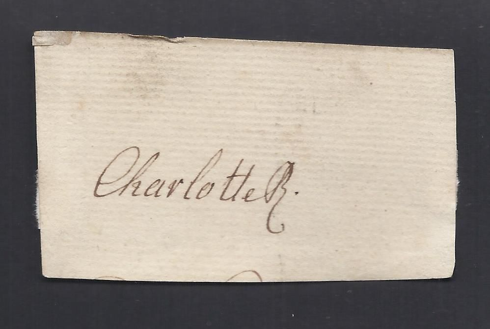 Queen Charlotte Autograph & Engraving in Antique Frame Wife of King ...